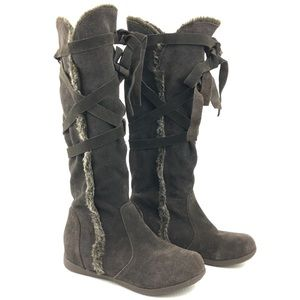 GiGi New York Leather Knee High Moccasin Boots